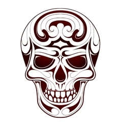 Skull head tattoo vector image
