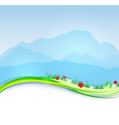 Spring Mont Blanc background vector