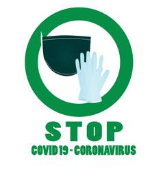 Stop coronavirus sign vector