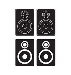 Subwoofer icon loudspeaker box flat sign isolated vector