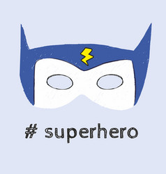super hero mask superhero vector image