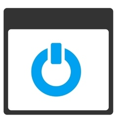 Switch On Calendar Page Toolbar Icon vector