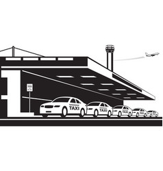 taxi service at airport vector image