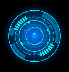 Technological communication glowing interface vector