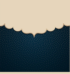 The frame on a background with golden polka dots vector