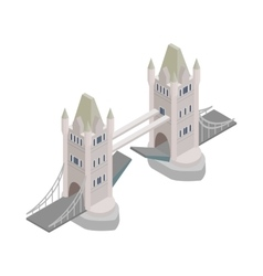 Tower Bridge in London icon isometric 3d style vector