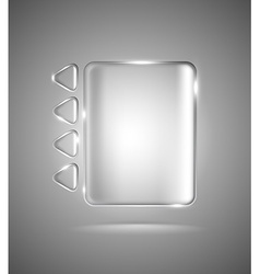 Transparent glass rectangle and triangles vector image