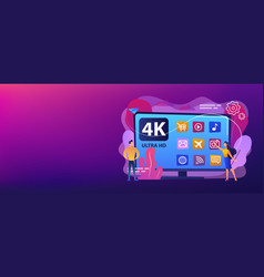 uhd smart tv concept banner header vector image