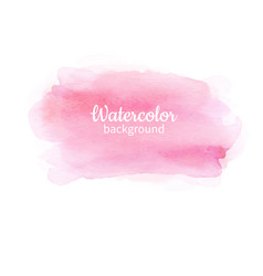 watercolor pink abstract hand painted background vector image
