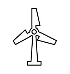 Windmill energy isolated icon vector