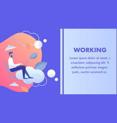 Working late corporate lifestyle banner template vector