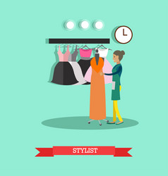 flat style of stylist fashion vector image vector image