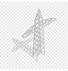 power transmission tower isometric icon vector image