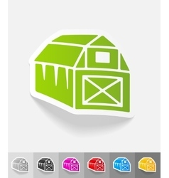 realistic design element barn vector image vector image