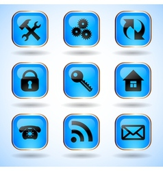 Set of Common Web Site Buttons vector image vector image