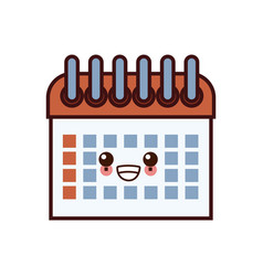 calendar event date kawaii cartoon vector image vector image