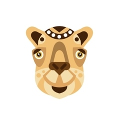 Camel African Animals Stylized Geometric Head vector image