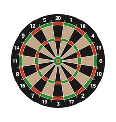 Dartboard Isolated on White Background vector image