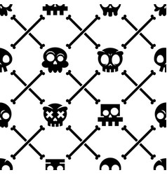 halloween skull seamless pattern mexican c vector image vector image