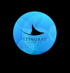 mantas swim or diving club logo vector image