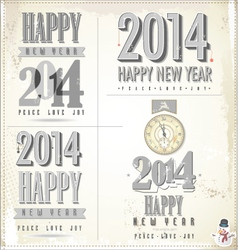 New Year symbols vector image