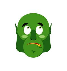 ogre surprised emoji goblin astonished emotion vector image vector image