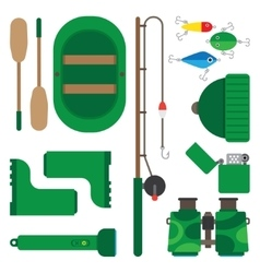 Icons theme of fishing vector