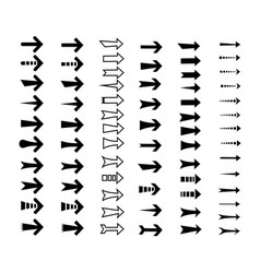 straight arrows icon set vector image vector image