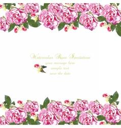 Watercolor geranium flowers card vector image vector image