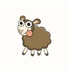 Cartoon sheep character for Christmas and New Year vector image vector image