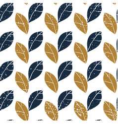 decorative botanical seamless pattern with leaves vector image vector image