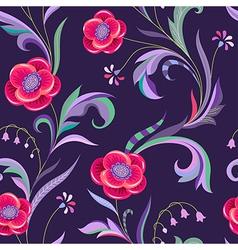 pattern elegant flower night vector image vector image