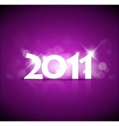 2011 new year pink vector image