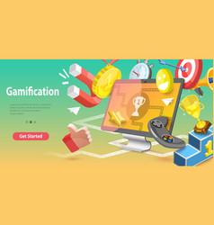 3d conceptual gamification vector