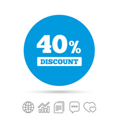 40 percent discount sign icon sale symbol vector image