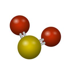 A molecule of sulfur dioxide vector