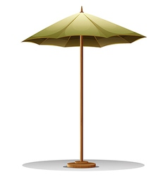 A table umbrella vector