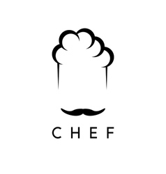 abstract icon design template of chef vector image