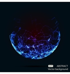 Abstract mesh spheres Futuristic vector