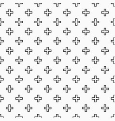 Abstract seamless pattern of crosses or plus signs vector