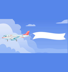 Airplane or aircraft with blank message vector