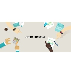 Angel investor money fund management startup vector