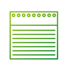 Back to school notebook paper lined holes vector
