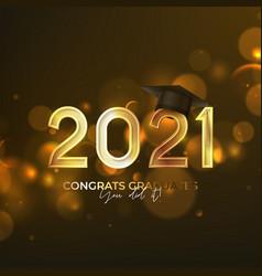 Banner for design graduation 2021 vector