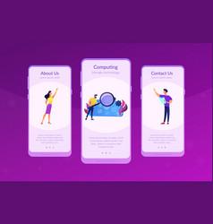 Big data app interface template vector