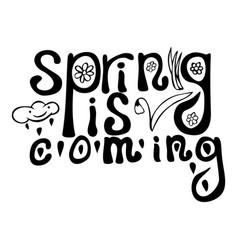 black ink spring lettering vector image