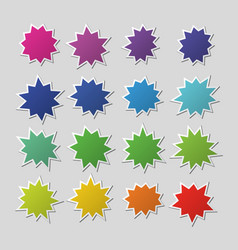 blank colorful paper starburst balloons explosion vector image