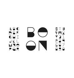 Boon font alphabet vector