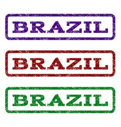 Brazil watermark stamp vector