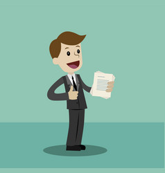 Businessman or manager has a lot of jobs job is vector